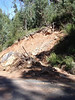 landslip on side of silverband rd