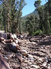 gully created by landslide silverband rd