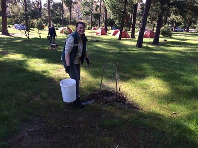 Arapiles Tree Watering and Mulching Aug 2017