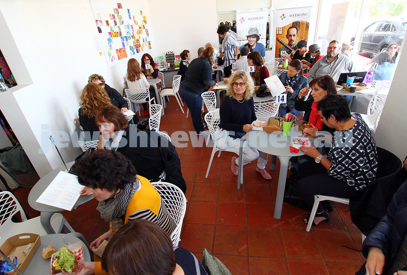 26-11-15. Access Inc 4th annual pop up cafe. Photo: Peter Haskin