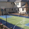Backyard Court_kiwi, steel blue, dark blue