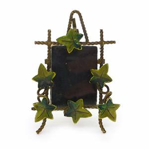 Antique Art Deco Ivy Metal Twisted Miniature Photo Frame