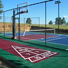 Backyard Court_burgundy, bright blue, shamrock green
