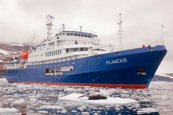 M/V Plancius - Our robust, ice-class expedition vessel to the Antarctic Peninsula, South Georgia & the Falkland Islands © with permission of Oceanwide Expeditions