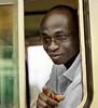 Man on a Bus, Accra, Ghana