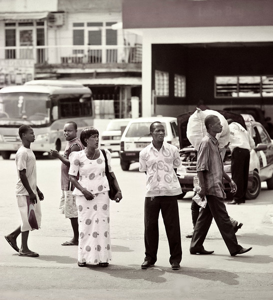 Man and Woman, Downtown Street, Accra, Ghana
