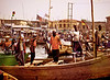 Fishermen on Their Boats, Harbor, Elmina, Ghana
