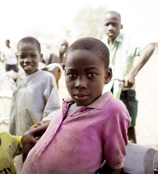 Pink Shirt, Crowd, near Tamale, Ghana