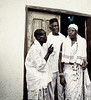 Men in White, King's House, Ouidah, Benin