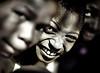 Closeup, Boy Students in Shadows, Bante, Benin