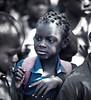 Closeup, Girl Student in Shadows, Bante, Benin