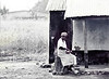 Washerwoman, Brealfast, near Tamale, Ghana