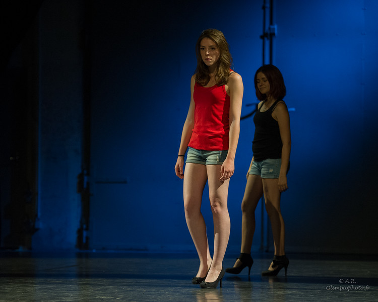 option théâtre du lycée Galilée, mai 2015