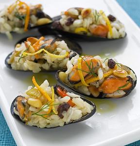 Mussels Pilaf For Harper Collins New Greek Cuisine Cookbook