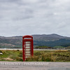 Isolated Red Phone Box