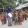 Rajia with kids from the neighbouring houses in the village.