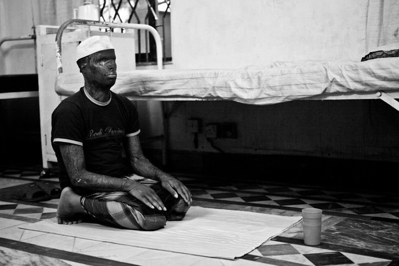 Shamsul in his afternoon prayers.