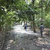 Durjoy and his father going to their home in Azmiherpur village outside jessore in Southern Bangladesh.