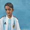 Durjoy is fan of the Argentina football team, also after they have been knocked out of the World Cup. Durjoy cannot play football himself, because of the tube that in his stomach that provides him with fluid food.