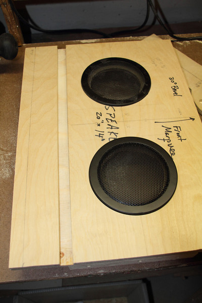 "The speakers in their holes. The dado is for the bezel (borrowing the idea from ""Project X"": <a href=""http://dahlstrom.sytes.net/techblog/?p=124"">http://dahlstrom.sytes.net/techblog/?p=124</a>)."