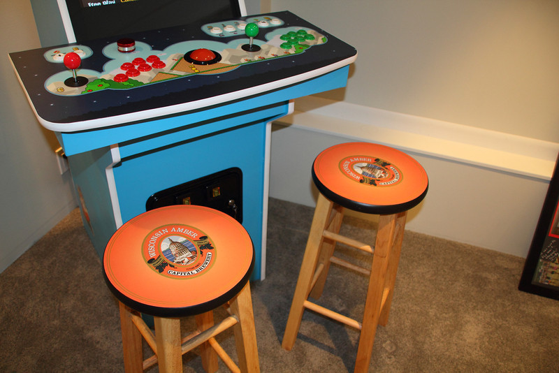 Cool Capital Brewing stools we found at a Waunakee garage sale