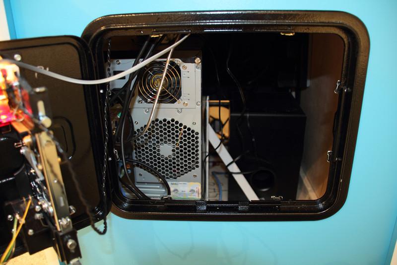 A peek inside the cabinet