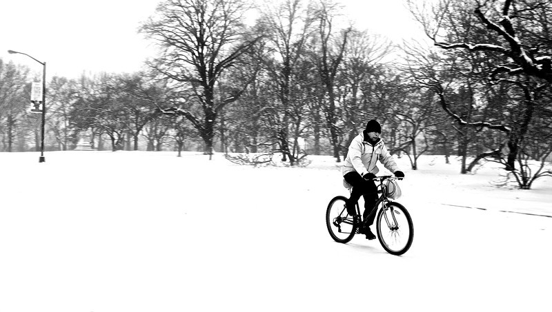 Biking In A Snowstorm