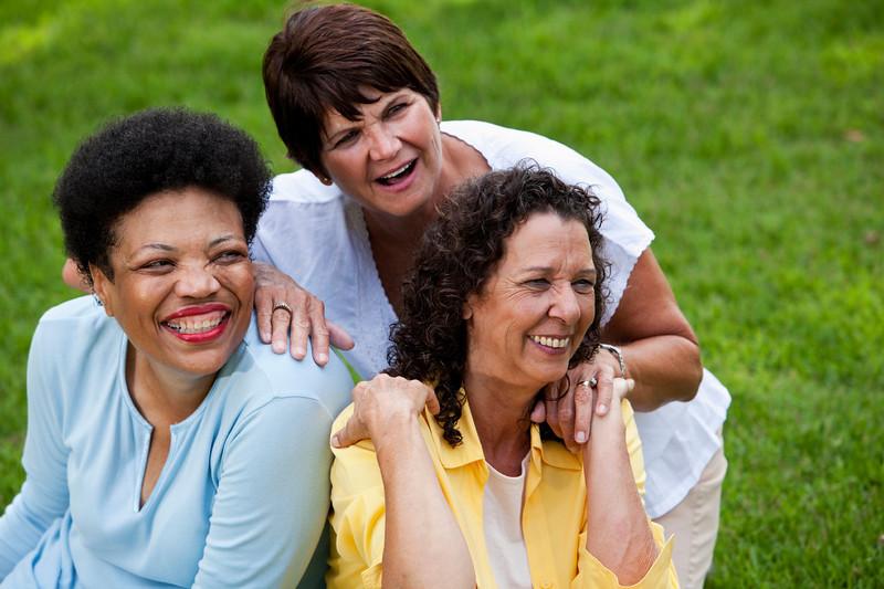 Mature women smiling