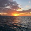 Sunset in Highborne after great day of snorkeling at Long Rock Cay