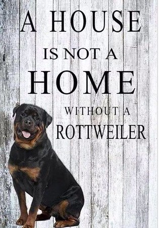 A House is not a Home without a Rottweiler