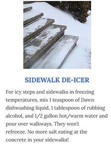 Sidewalk De-icer