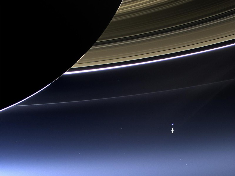 Earth, as seen from Saturn