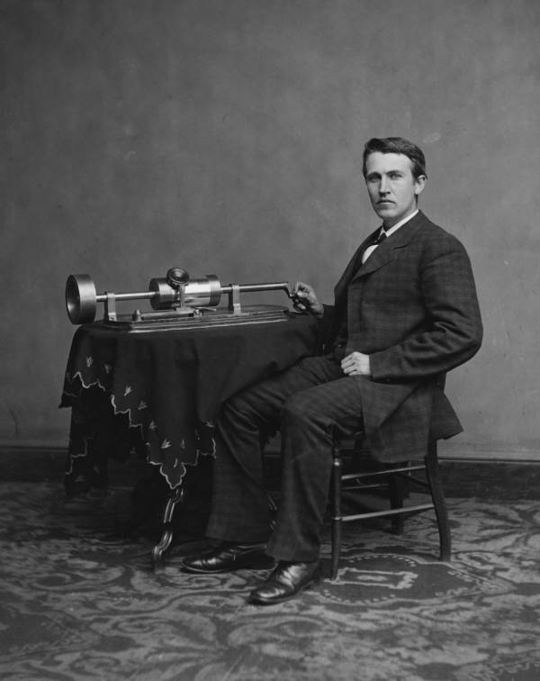 Edison Unveils The Phonograph