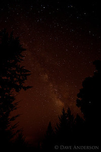 The view from our deck, around 11:15pm. my first shot of the Milky Way.