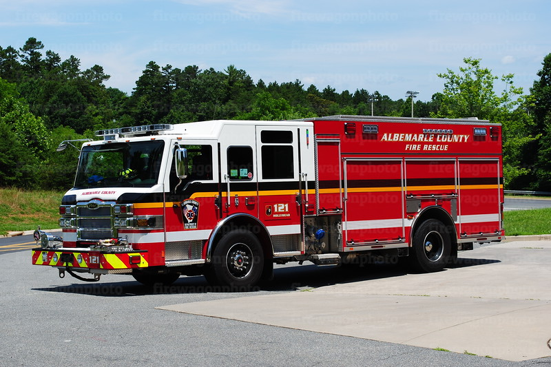 Albemarle Co. VA Fire Rescue - Hollymead Engine 121: 2015 Pierce Impel 1500/750/60F