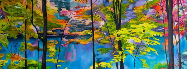 Peaceful Pond 18 X 48