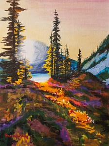 Glowing Meadows 12x16