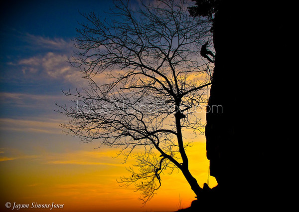 Sunset Rappel....New Paltz, NY