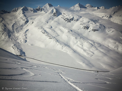 Valdez, AK 'above the road skiing'....Thompson Pass, AK