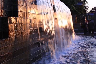 Waterfall in Downtown Reno