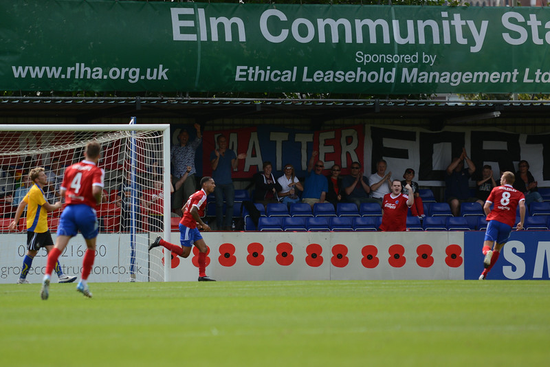 After 35 minutes Jordan Roberts put Aldershot 2-0 ahead