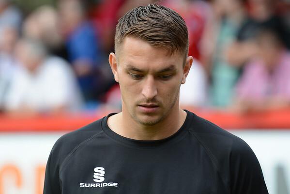 Brett Williams looking pensive pre match