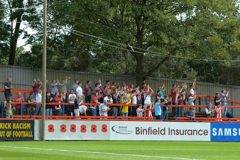 Altrincham pull a goal back and the away fans celebrate
