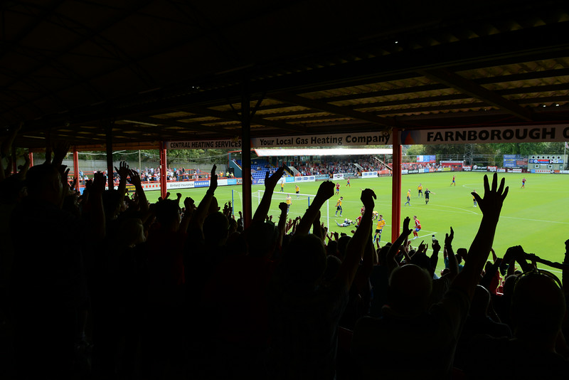 To the delight of the home fans