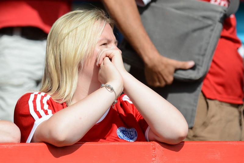 An Aldershot fan in the sunshine