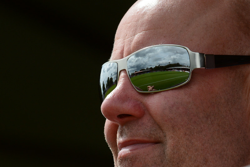 The Recreation Ground reflected in a supporter's sunglasses