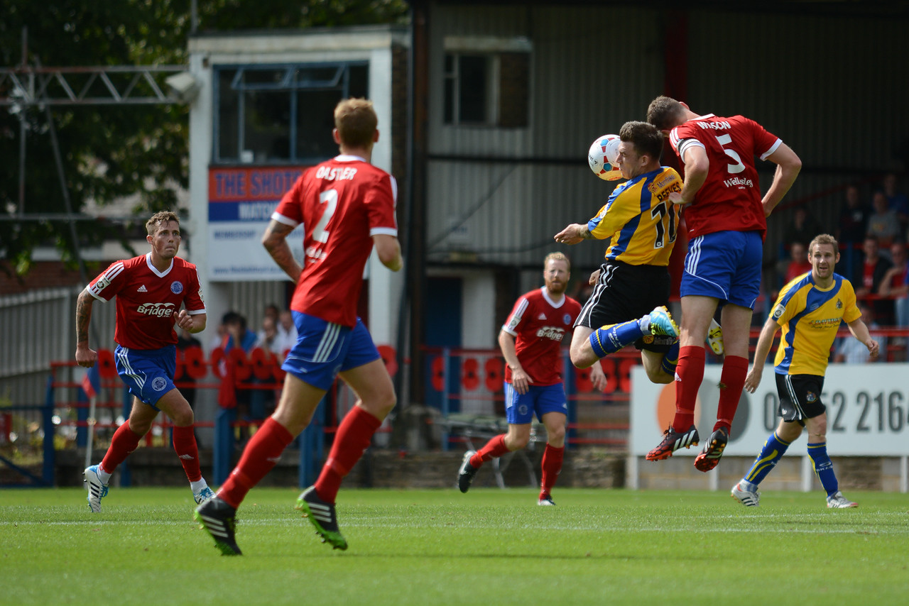 Glenn Wilson and the Aldershot defence are well in control