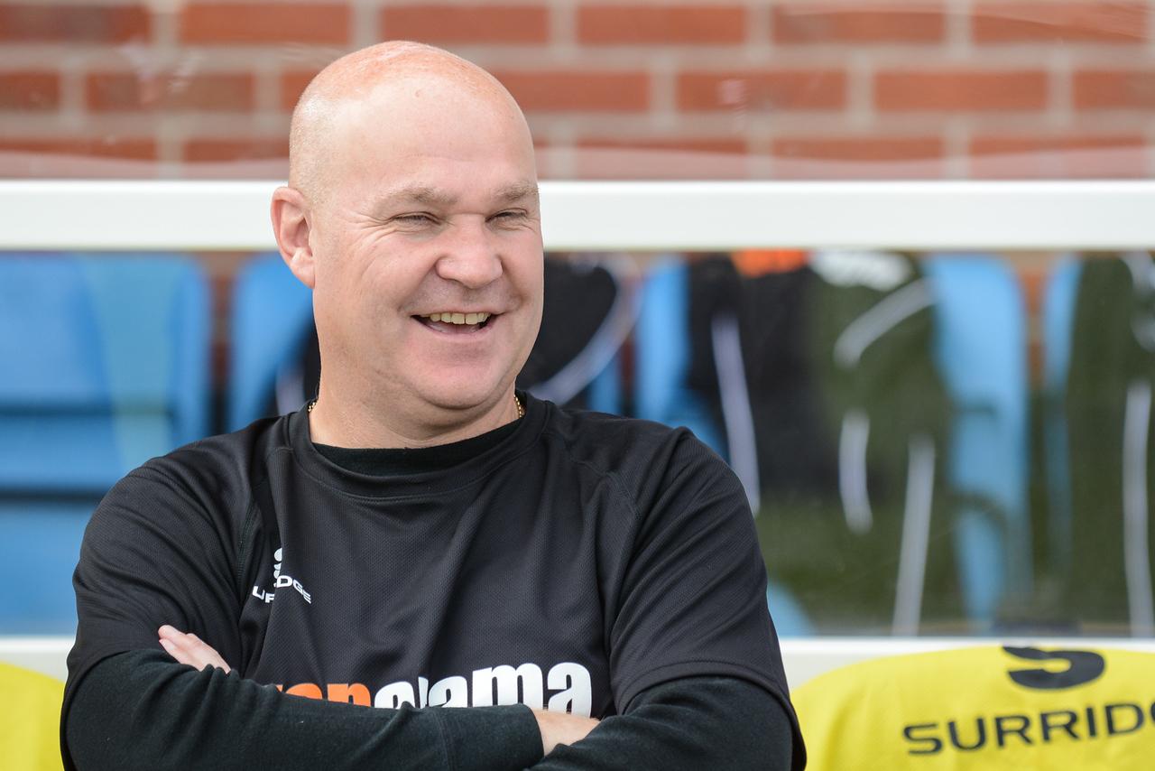 Richard Hill looks happy pre-match