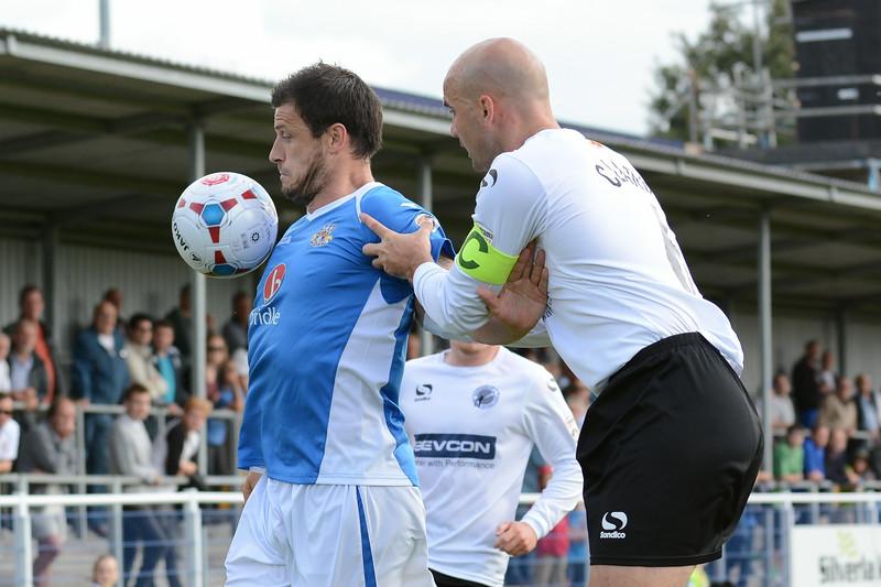 Craig McAllister holds off Ben Clark