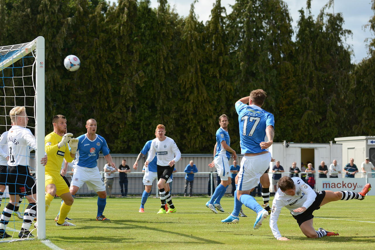 Paul Reid fires this chance over the bar
